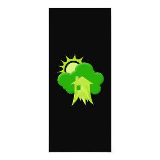 """Casa verde invitación 4"""" x 9.25"""""""