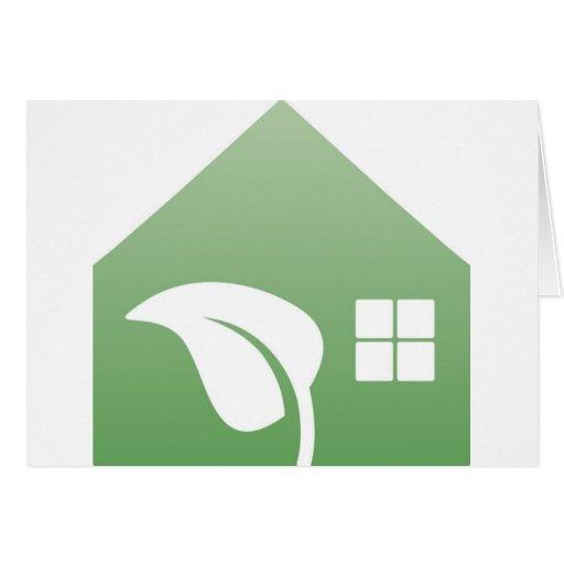 casa verde tarjeta de felicitación