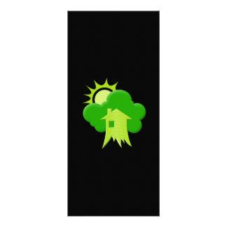Casa verde tarjeta publicitaria a todo color