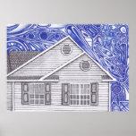 Casa vertical impresiones