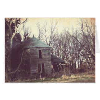 Casa vieja 4 tarjeta de felicitación