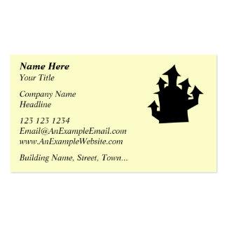 Casa vieja, cinco torres plantilla de tarjeta de negocio