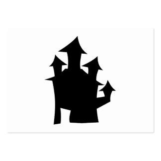 Casa vieja con las torres plantilla de tarjeta de negocio