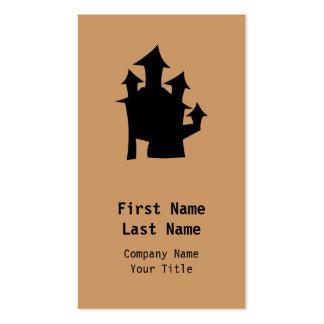 Casa vieja con las torres plantillas de tarjeta de negocio