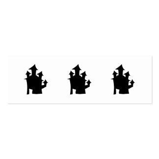 Casa vieja con las torres plantilla de tarjeta personal