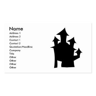 Casa vieja con las torres tarjetas de visita