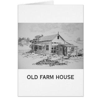 Casa vieja de la granja tarjeta de felicitación