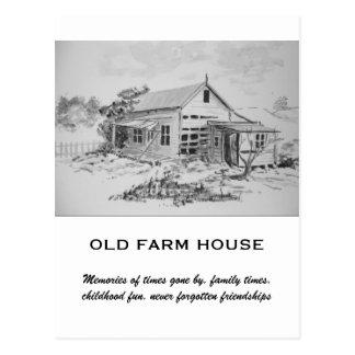 Casa vieja de la granja tarjeta postal