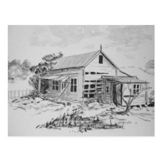 Casa vieja de la granja tarjetas postales