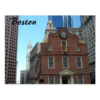 Casa vieja del estado, Boston Tarjeta Postal