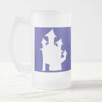 Casa vieja, en blanco taza de cristal