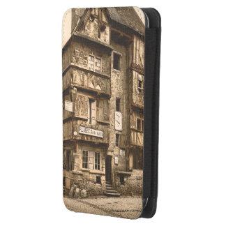 Casa vieja en la ruda San Martín, Bayeux, Francia Funda Acolchada Para Galaxy S4