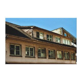 casa vieja lienzo envuelto para galerias