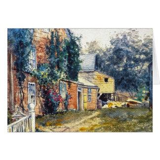 Casa vieja Nantucket Felicitación
