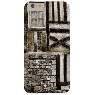 Casa vieja rústica de madera y de la piedra funda barely there iPhone 6 plus