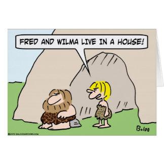 casa viva del wilma de fred de la cueva tarjeta de felicitación