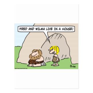casa viva del wilma de fred de la cueva tarjetas postales