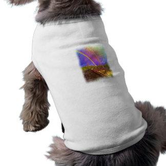 Casa y arco iris camisa de perrito