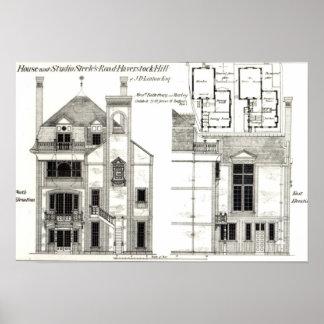 Casa y estudio, el camino de Steele, Haverstock Póster