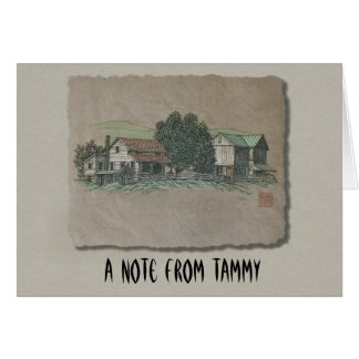 Casa y granero de Amish Tarjeta Pequeña