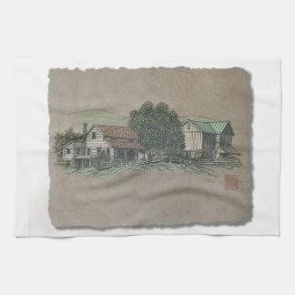 Casa y granero de Amish Toallas De Cocina