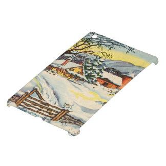 Casa y granero en invierno iPad mini carcasa