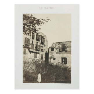 Casa y jardín en el barrio francés, Egipto, 185 Tarjeta Postal