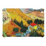 Casa y labrador Vincent van Gogh del paisaje iPad Mini Fundas