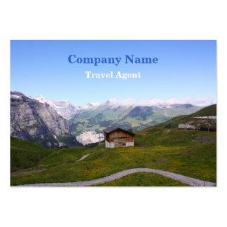 Casa y montañas suizas tarjetas de visita grandes