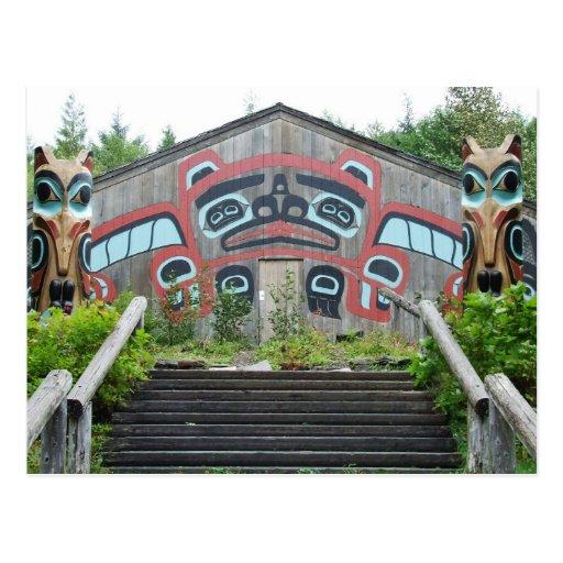 Casa y tótemes, Ketchikan, Alaska del clan Postal