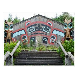 Casa y tótemes, Ketchikan, Alaska del clan Postales