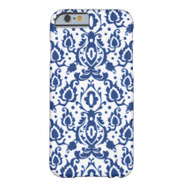 Casablanca Casbah Blue and White Damask Barely There iPhone 6 Case