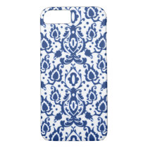 Casablanca Casbah Blue and White Damask iPhone 7 Case