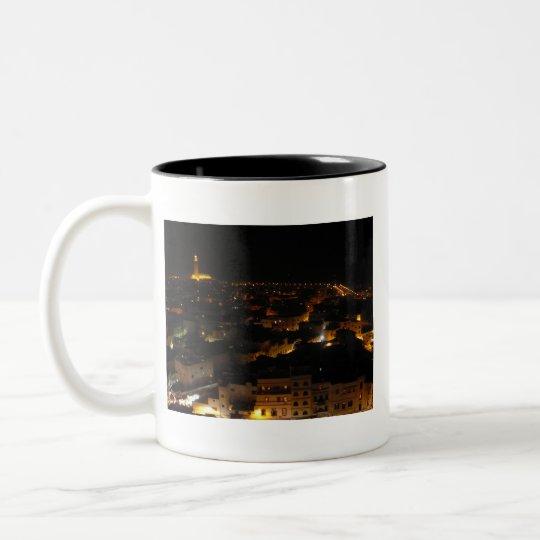 Casablanca, Morocco Two-Tone Coffee Mug