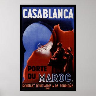 Casablanca Pore Du Maroc Travel Poster