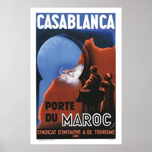 Casablanca Travel Poster