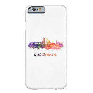 Casablanca V2 skyline in watercolor Barely There iPhone 6 Case