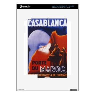Casablanca Vintage Travel Decals For iPad 3