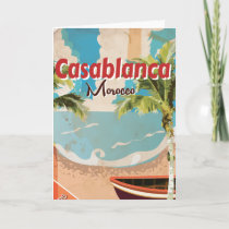 Casablanca Vintage Travel poster