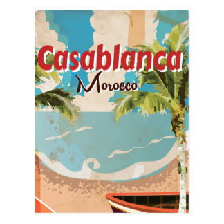Casablanca Vintage Travel poster Postcard