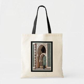 Casablanca--Woman at Mosque Canvas Bag