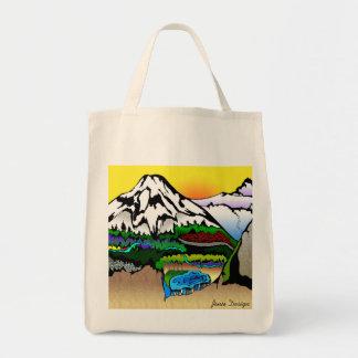 Casacade Majesty black border Tote Bag