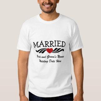 Casado apenas de la camiseta casada del poleras