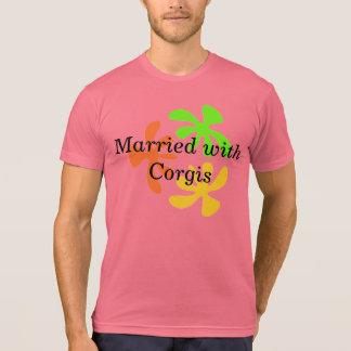 Casado con los Corgis Playeras