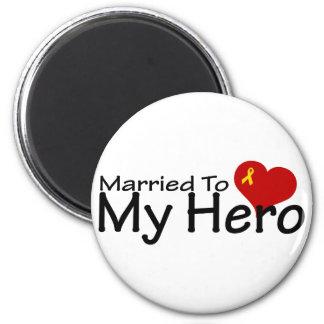 Casado con mi héroe imanes de nevera
