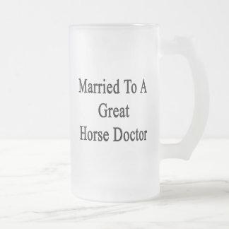 Casado con un gran doctor de caballo taza cristal mate