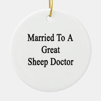 Casado con un gran doctor de las ovejas ornato