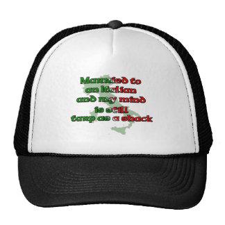 Casado con un italiano gorras de camionero