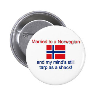 Casado con un noruego… pin redondo de 2 pulgadas