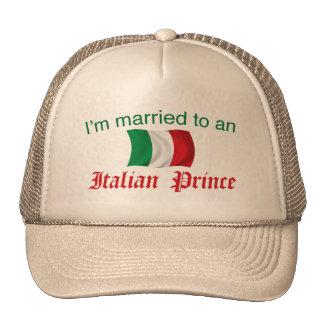 Casado con un príncipe italiano gorros bordados